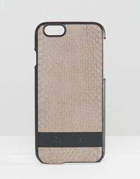 Кожаный чехол для iPhone 6 от Calvin Klein - Cinder snake