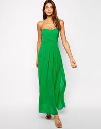 Платье макси с плиссированным лифом TFNC
