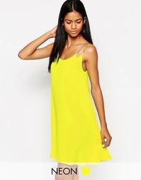 Платье-майка на бретельках-цепочкаx AX Paris - Желтый
