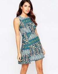 Короткое приталенное платье AX Paris - Мульти