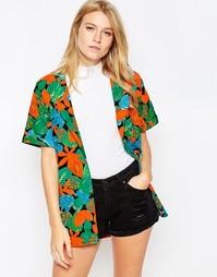 Бейсбольная рубашка с тропическим принтом Motel Joelle - Tropicana