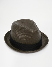 Соломенная шляпа-федора Brixton Castor - Черный