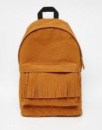 Бежевый рюкзак с бахромой ASOS Alpha - Рыжий