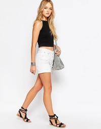 Рваные джинсовые шорты Glamorous - Белый