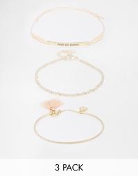 Набор браслетов‑фенечек Pieces Tenna - Золотой