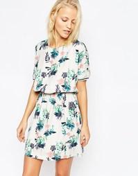 Короткое платье с цветочным принтом Y.A.S - Мульти