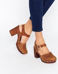 Кожаные туфли на каблуке ASOS ONLY ONCE - Рыжий