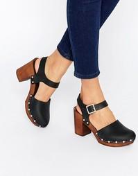 Кожаные туфли на каблуке ASOS ONLY ONCE - Черный