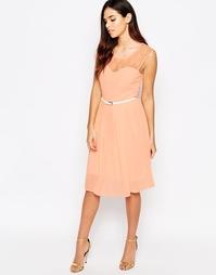 Платье миди с кружевным топом Jasmine - Розовый