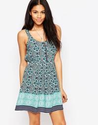 Короткое приталенное платье с принтом Brave Soul - Мятный