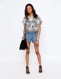 Джинсовые шорты Glamorous - Голубой джинсовый