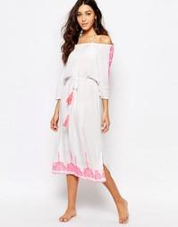 Пляжное платье макси с вышивкой Akasa Asaka