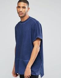 Удлиненный оversize-свитшот цвета индиго ASOS - Синий