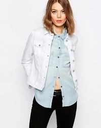 Приталенная джинсовая куртка Hilfiger Denim - Белый