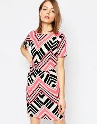 Платье мини с принтом ASOS - Мульти