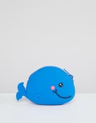 Силиконовый кошелек в форме кита ASOS - Синий