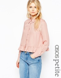 Рубашка в стиле casual с оборкой по подолу ASOS PETITE