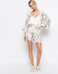 Повседневные шорты с цветочным принтом Neon Rose - Мульти