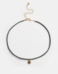 Ожерелье-чокер с монетками ASOS - Хаки