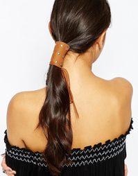 Замшевое украшение для волос с заклепками ASOS - Рыжий