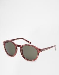 Круглые солнцезащитные очки Cheap Monday - Коричневый черепаховый