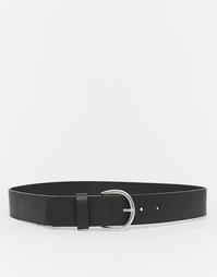 Широкий кожаный ремень Vero Moda - Черный