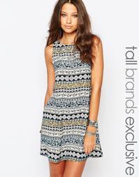 Цельнокройное платье с принтом Glamorous Tall - Мульти