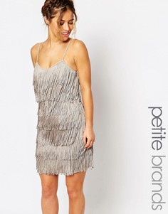 Платье с бахромой Maya Petite - Серый