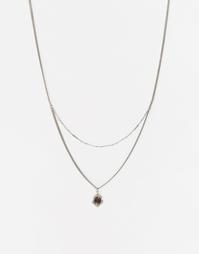 Ожерелье в два ряда с черным перламутром Regal Rose WILD MAUD