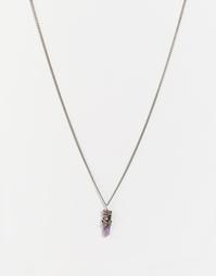 Ожерелье с аметистом Regal Rose WILD EVE - Серебряный