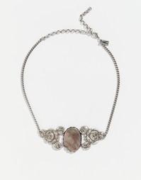 Ожерелье-чокер с черным перламутром Regal Rose REST IN PEACE