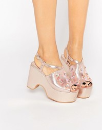 Розовые сандалии на платформе в стиле 90‑х Daisy Street