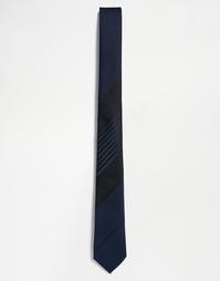 Галстук с черной блочной полоской ASOS - Черный