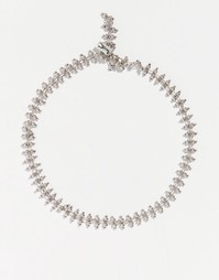 Ожерелье-чокер с бусинами Regal Rose SIENNA - Серебряный