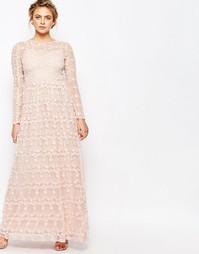 Платье макси со сплошной цветочной аппликацией True Decadence