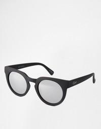 Круглые солнцезащитные очки с зеркальными стеклами Quay Australia Clas