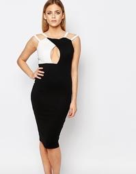 Платье колор блок с вырезом капелькой Boohoo - Черный
