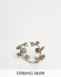 Посеребренное кольцо с цветочным дизайном Regal Rose WILD EVE