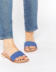 Кожаные сандалии на плоской подошве Ravel - Синий