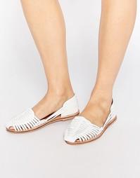 Туфли на плоской подошве London Rebel Mica - Белый