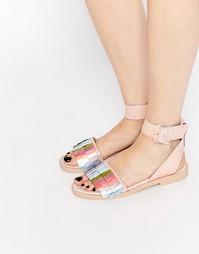 Сандалии с ремешком вокруг щиколотки Miista Saira - Розовый металлик