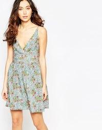 Платье с принтом роз Iska - Пастели
