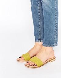 Кожаные сандалии на плоской подошве Ravel - Lime green