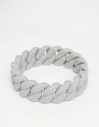 Серый резиновый браслет ASOS - Серый