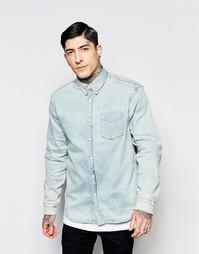 Светлая джинсовая рубашка Hoxton - Синий