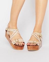 Кожаные сандалии Park Lane - Телесный
