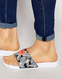 Шлепанцы с принтом Nike Benassi JDI 631261-160 - Белый