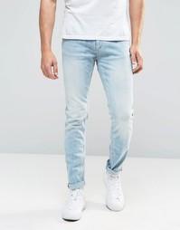 Выбеленные джинсы скинни Jack & Jones - Светло-голубой