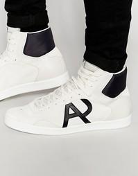 Высокие кроссовки с логотипом Armani Jeans - Белый