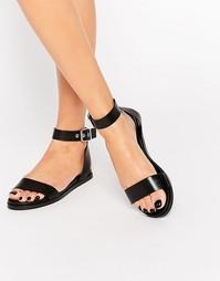 Простые черные сандалии с ремешком ALDO Erina - Черный